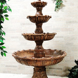 Outdoor Classics - Outdoor Classics Large Tiered Ball Outdoor Fountain -