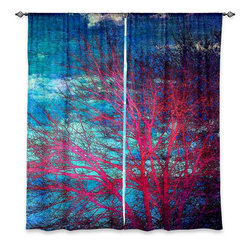"DiaNoche Designs - Window Curtains Lined by Sylvia Cook Abstract Tree II - Purchasing window curtains just got easier and better! Create a designer look to any of your living spaces with our decorative and unique ""Lined Window Curtains."" Perfect for the living room, dining room or bedroom, these artistic curtains are an easy and inexpensive way to add color and style when decorating your home.  This is a woven poly material that filters outside light and creates a privacy barrier.  Each package includes two easy-to-hang, 3 inch diameter pole-pocket curtain panels.  The width listed is the total measurement of the two panels.  Curtain rod sold separately. Easy care, machine wash cold, tumble dry low, iron low if needed.  Printed in the USA."