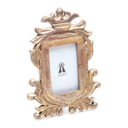Wood Carved Frame - B - 3.25 x 5.25 - Regal in stature, this whitewashed wood carved frame is majestically fit to frame your most treasured memories in your master suite or home library beautifully. Change the frames and photos in your space for an easy way to update the look of any room.