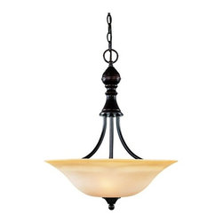 Savoy House - Savoy House 7-1709-3 Three Light Bowl Pendant from the Sutton Place Collection - *Three light pendantFeaturing cream faux marble glassRequires three 100w medium base lamps