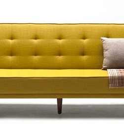NYFU - Sleek Sofa Bed - Mustard - The combination of functionality and elegance. Our Sleek Sofa Bed will give you a smooth experience when you are sitting and laying.