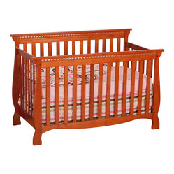 Stork Craft - Stork Craft Venetian 4-in-1 Fixed Side Convertible Crib in Cognac - Stork Craft - Cribs - 0458713C - Experience nursery luxury at its very best with the Venetian 4 in 1 Fixed Side Convertible Crib by Stork Craft.This is a classic crib with graceful elegant curves and timeless design. The construction of the Venetian is sturdy the finish is gorgeous the design is stunning and the value is impressive. With secure static side rails this piece provides the ultimate in stability and function. This crib will grow with your child as it converts from a full size crib to a toddler bed to a daybed to a full-size bed (bed rails not included). Set-up this timeless piece effortlessly with its simple easy to follow assembly directions. Complete your nursery look by adding a Stork Craft changing table chest dresser or glider and ottoman.