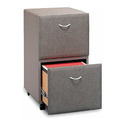Bush Business - Pewter Finish Two Drawer Rolling File Cabinet - Create decorative appeal along with an affordable and versatile filing system that maximizes space.  Pewter finish is stylishly neutral for executive, administrative, and workstation placement.  Two-drawer rolling cabinets are completely assembled and feature fully extendable rails for letter, legal, or A4 setup.  This Pewter file cabinet is easily mobile with four casters on its base which allow it to roll to the work station which is most convenient.  Its one gang lock secures both drawers, and it holds letter, legal, and even A4 type size files. * Casters allow easy mobility. File fits under desks. Each drawer holds letter, legal and A4-size files. One gang lock secures both drawers. Drawers open on full-extension ball bearing slides. Fully assembled case goods15.512 in. W x 20.27 in. D x 28.150 in. H