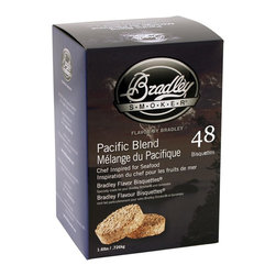 Bradley - 48-Pack Bisquets Pacific Blend - -Bradley Smoker pacific blend bisquettes are rendered from natural hardwoods without additives, producing a clean smoke flavor
