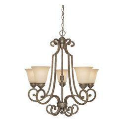 Capital Lighting - Capital Lighting Barclay Traditional Chandelier X-782-SC5853 - From the Barclay Collection, this Capital Lighting chandelier features eye-catching scrollwork and elegant traditional details, all available in your choice of either a Chesterfield Brown or Creek Stone finish. It also features mist scavo glass shades that add a subtle contemporary flair to the design.