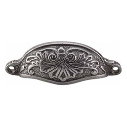 Top Knobs - Top Knobs: Abbot Cup Pull 3 15/16 Inch (C-C) - Cast Iron - Top Knobs: Abbot Cup Pull 3 15/16 Inch (C-C) - Cast Iron