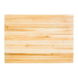 Hardware Resources - Hardware Resources ISL03-TOP Wood Butcher Block Top, 64 in  X 38.5 in - Hard Maple Butcher Block Top. For use with ISL05. Mounting hardware and instructions included. Made in the USA with FDA-approved food-safe glues and finishing materials.