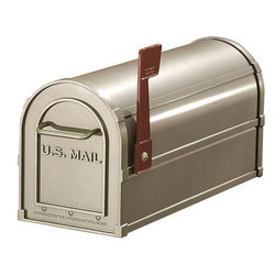 Salsbury Industries - Salsbury Nickel Heavy-duty Rural Mailbox - Made entirely of aluminum, this U.S.P.S-approved mailbox is both functional and durable. This rural mailbox has an 1/8-inch thick extruded body.