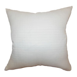 "The Pillow Collection - Unita Quilted Pillow Snow - This quilted throw pillow is immaculate and simple. This accent pillow features quilted pattern set in snow background. This decor pillow is like a blank canvas where you can mix and match various patterns and colors. Add this square pillow on your living room to add a refreshing vibe. This 18"" pillow is made from 100% polyester fabric. Hidden zipper closure for easy cover removal.  Knife edge finish on all four sides.  Reversible pillow with the same fabric on the back side.  Spot cleaning suggested."
