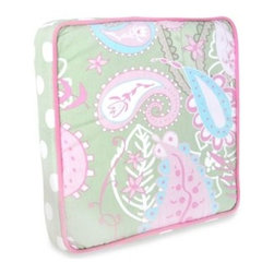 My Baby Sam - My Baby Sam Pixie Baby Throw Pillow in Pink - This fun, paisley throw pillow coordinates with the My Baby Sam Pixie Baby Crib Bedding Set in Pink/Green. It is perfect for a rocking chair or glider.