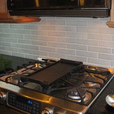 Ceramic subway tile for kitchen backsplash or bathroom tile in gray color Brine
