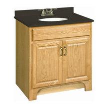 Design House - Richland 2-Door Vanity Cabinet in Nutmeg Oak - Vanity ...