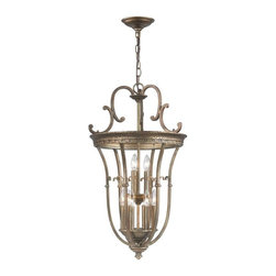World Imports - Hayley 9-Light Distressed Pendant, Distressed Bronze - All metal construction with a distressed bronze finish