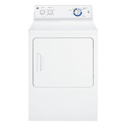 GE - 6.0 Cu. Ft. Electric Dryer; 6 Cycles/4 Heat Selections, Duradrum - 6.0 cu. ft. Dura Drum electric dryer