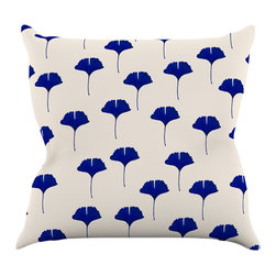 "Kess InHouse - Iris Lehnhardt ""Leaf Pattern"" Tan Blue Throw Pillow (18"" x 18"") - Rest among the art you love. Transform your hang out room into a hip gallery, that's also comfortable. With this pillow you can create an environment that reflects your unique style. It's amazing what a throw pillow can do to complete a room. (Kess InHouse is not responsible for pillow fighting that may occur as the result of creative stimulation)."