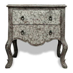 Koenig Collection - Old World Eclectic Accent Table Royal - Old World Eclectic Accent Table Royal,