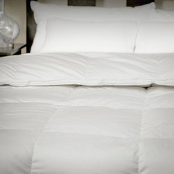 None - CozyClouds by DownLinens Deluxe White Goose Down Comforter - If you're looking for a comfortable down comforter,look no further. With 700 fill power you can count on this deluxe piece keeping you warm even on the coldest nights,while the 400-thread count silky cotton sateen works well for every season.