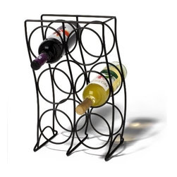 Spectrum Diversified Designs - 6 Bottle Curve Wine Rack, Black - Spectrum's Curve 6-Bottle Wine Rack combines a stylish look with space-saving convenience. The clever design keeps wine bottles at the proper angle to help prevent corks from drying. Made of sturdy steel, this wine rack will add a modern touch to your home.
