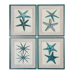 Uttermost - Coastal Starfish Framed Art S/4 - See Special Instructions.