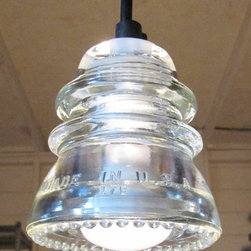 Insulator light - Clear Beaded - Railroadware Upcycled Lighting & HardwareProducts