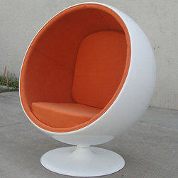 Ball Chair, Orange -