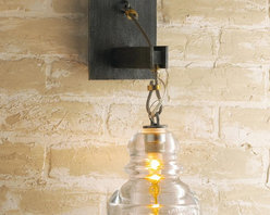 Reproduction Insulator Glass Sconce -