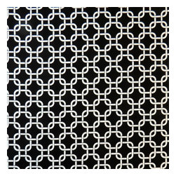 """SheetWorld - SheetWorld Fitted Crib / Toddler Sheet - Black Links - Made in USA - This beautiful 100% cotton """"woven"""" crib / toddler sheet features a black links print. Size of each link is about 1 1/4 inch. Our sheets are made of the highest quality fabric which are soft and durable. They have deep pockets and are elasticized around the entire edge which prevents it from slipping off the mattress, thereby keeping your baby safe. These sheets are so durable that they will last all through your baby's growing years. We're called SheetWorld because we produce the highest grade sheets on the market. Size: 28 x 52."""
