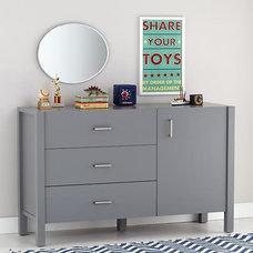 Uptown Wide Dresser (Grey) | The Land of Nod