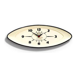 Time's Eye Wall Clock - This eye-catching clock is a great way to introduce mid-century modern design into your home without sacrificing your affinity for the eclectic. Battery-operated and vintage-inspired, this clock can be easily mounted on any wall.