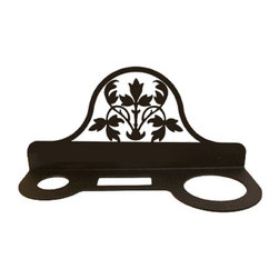 Village Wrought Iron - Village Wrought Iron HD-173 Floral Hair Dryer Rack - Decorative, functional and long lasting handcrafted products for your home carefully made using the finest materials and time-tested methods of craftsmanship. Quality and durable coated products have a baked on powder coating to ensure that you may enjoy each piece for many years. Toilet Tissue Holder Measurements Are Approximate. Proudly crafted in the USA. Material is Handcrafted Iron. Finish is a Flat Black Powder Coated Iron for that long lasting appeal. Dimensions are approximately: 11 In. W x 5 In. H x 4 In. D. Openings are 1 1/2 In Round 2 1/2 In. x 1 In. Rectangle 2 3/4 In. Round. Silhouette Sizes Vary Slightly. Proudly crafted in the USA