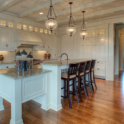Custom Cabinets - Custom White Kitchen by Designed Cabinets