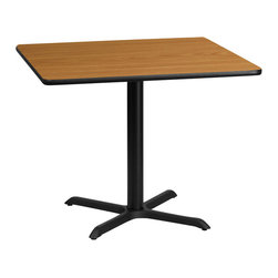 Flash Furniture - Flash Furniture 36 Inch Square Dining Table with Reversible Laminate Top - Complete your restaurant, break room or cafeteria with this reversible table top. The reversible laminate top  features two different laminate finishes. This table top  is designed for commercial use so you will be assured it will withstand the daily rigors in the hospitality industry. [XU-WNT-3636-GG]