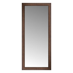 """Posters 2 Prints, LLC - 36"""" x 80"""" Arqadia Bronze Traditional Custom Framed Mirror - 36"""" x 80"""" Custom Framed Mirror made by Posters 2 Prints. Standard glass with unrivaled selection of crafted mirror frames.  Protected with category II safety backing to keep glass fragments together should the mirror be accidentally broken.  Safe arrival guaranteed.  Made in the United States of America"""
