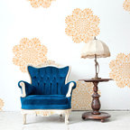 Victoria Lace Doily Stencil - Victoria Lace Doily Stencil from Royal Design Studio. Use this lacy design for your walls, furniture, floors, or fabric for a feminine touch of classic design.