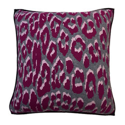 Rani Arabella - Rani Arabella Terra Leo Cashmere Blend Pillow, Pink - Add a bold print to your living or dining room using the Leo Cashmere Blend Pillow. Made from 70% cashmere and 30% wool, this pillow features a classic leopard pattern in shades of pink, fuchsia and gray. Pair it with neutral-toned decor for a dramatic contrast, or with bright colors for a cohesive feel. Includes a 50% down and 50% polyester insert. Dry clean only. Made in Italy.