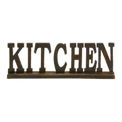 Benzara - Elegant and Beautiful Style Wood Kitchen Sign 2 Home Accent Decor - Description: