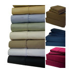 Bed Linens - 21 inch Super Deep Pockets 600TC Sheet Set King Ivory - 21 inch Super Deep Pockets Sheet SetExtra Deep Pockets (21-inch) Queen sheet set * 100-Percent Egyptian cotton * 600 Thread count single ply * Fitted made with elastic all aroundQueen Set Includes:one Queen fitted sheet: 60 inches wide x 80 inches longone Queen flat sheet: 96 inches wide x 106 inches longtwo Standard/Queen pillow cases 20 inch x 32 inches