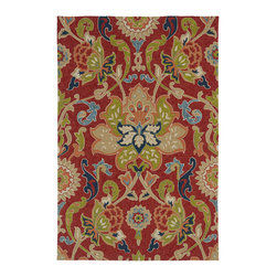 Kaleen - Kaleen Home And Porch 2042 25 Red Rug - 2 ft x 3 ft - Kaleen Home And Porch 2042 25 Red Area Rug Home & Porch is an absolutely beautiful and elegant collection perfectly produced to be a wonderful addition to any room in your home yet durable enough to be used for your outdoor enjoyment as well. This collection is reflective of a more active lifestyle and invites the expansion of indoor living space to the outdoors. Home & Porch is UV treated against excessive fading and is water protected. Hand Made of 100% Durable Polypropylene. Made in China