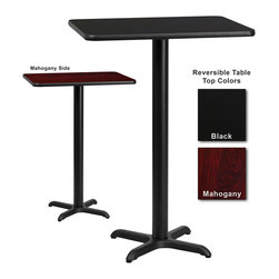 Flash Furniture - Flash Furniture 30 Inch x 42 Inch Rectangular Bar Table - Complete your restaurant, break room or cafeteria with this reversible table top. The reversible laminate top features two different laminate finishes. This table top is designed for commercial use so you will be assured it will withstand the daily rigors in the hospitality industry. [XU-MBT-3042-GG]
