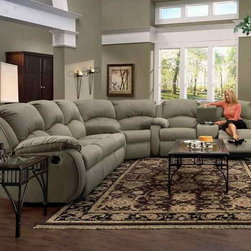 Recline Designs - Gabriella Queen Sleeper Sectional Sofa - 1 Southern Recline Wedge 705-83