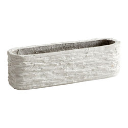 Cyan Design - Fossil Cliff Planter-05923 - Fossil cliff planter - sandstone