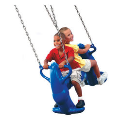 Swing-n-Slide - Mega Rider Swing - Your child can get this swing moving by herself or invite a friend to really soar! This Mega Swing includes hardware for mounting. You can also rest assured that your children are safe on this swing, which is rated to hold up to 200 lbs! Features: -Includes Mega Rider swing and hardware for mounting -Rated to hold up to 200 lbs **Please Note: Swing-N-Slide products are intended for residential use only, and will only be shipped to residential addresses.**