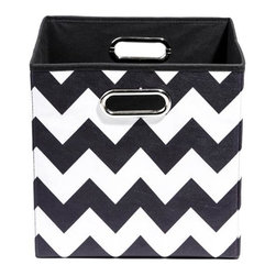 Modern Littles - Bold Chevron Folding Storage Bin - Pack 'em up! Your kids will love to keep their toys in this fun, colorful storage bin. It easily slides under beds or cribs and folds flat for easy storage.