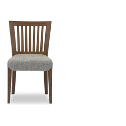 Bryght - Venise Dining Chair - The Venise dining chair showcases a simple time honored linear slat back design, that is a treat for the trendy and traditional household alike. Gently curved back provides adequate support for the back for a relaxed sit. The Venise dining chair is perfect for everyday use or dinner parties.