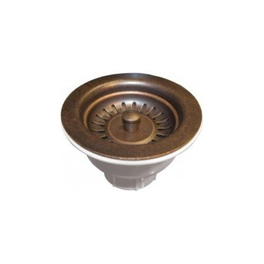 "3.5"" Basket Strainer In Weathered Copper - Basket strainers designed to fit the Native Trails hand hammered copper kitchen sinks and bar/prep sinks. These Native Trails drains are high quality and matched for color."