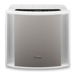 DeLonghi AC150 Energy Star 150 Square Foot Air Purifier w/ Ionizer - 7735 delonghiLogoThe DeLonghi AC150 Energy Star Air Purifier with Ionizer incorporates  the latest technological features for quiet, home air filtration and is  suitable for rooms up to 150 sq. ft.  It has five layers of air  filtration including the pre-filter, HEPA filter, active carbon filter,  photo catalytic filter with UVC lamp and ionizer with on/off function  cleaning the air and removing impurities down to a size of 0.3 microns  including dust, pollen, cigarette smoke and car exhaust fumes.  DeLonghi's AQS air quality system uses a unique lighted sensor system to  give you visible feedback on the room's air quality (orange for bad,  green for satisfactory, and blue for good) adjusting the fan speed as  the room's air quality changes. Convenience features include a sensor  touch LED control panel, timer (1, 3, 4 or 8 hours) and filter  indicatorstrong>Features: - Energy Star air purifier with ionizer is suitable for rooms up to 150 sq. ft. (CADR: 98)- AQS air quality system uses a unique lighted sensor system to give visible feedback on room's air quality- 5 layers of filtration include pre-filter, HEPA filter, active carbon filter, photo catalytic filter with UVC lamp and ionizer- Cleans  the air and removes impurities down to a size of 0.3 microns including  dust, pollen, cigarette smoke and car exhaust fumes- Sensor touch LED control panel- 3 fan speeds- Ionizer has on/off function- Timer (1, 3, 4 or 8 hours)- Filter indicator- Quiet operation- AHAM certified