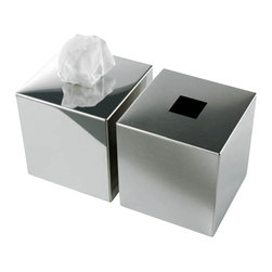 Modo Bath - Harmony 510 Tissue Box in Mat Stainless Steel - Harmony 510 Tissue Box in Mat Stainless Steel