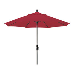 California Umbrella - 9 Foot Pacifica Aluminum Crank Lift Collar Tilt Patio Umbrella, Bronze Pole - California Umbrella, Inc. has been producing high quality patio umbrellas and frames for over 50-years. The California Umbrella trademark is immediately recognized for its standard in engineering and innovation among all brands in the United States. As a leader in the industry, they strive to provide you with products and service that will satisfy even the most demanding consumers.