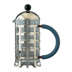 Alessi - Alessi Michael Graves Coffee Press - Whether you're spending a lazy Saturday at home or are on your business trip for those crack-of-dawn meetings, this stainless steel, coffee press, designed by Michael Graves, is up to the task.