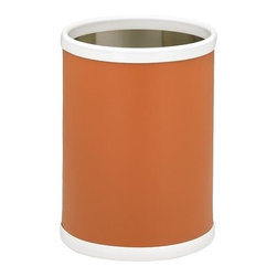 Kraftware - Bartenders Choice Fun Colors Wastebasket in Spicy Orange - Made in USA. 10 in. Dia. x 12 in. H (1.5 lbs.)Our fun colors collection features the hottest colors for the season, to provide you with great entertaining items, with up to the minute styling. Great for indoor and outdoor entertaining.